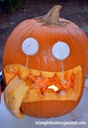 "This pumpkin was titled ""How Many Licks?"""
