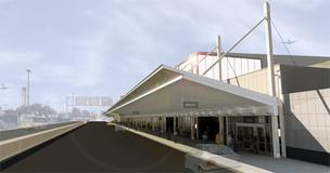 This is what the drive up to the renovated Terminal 1 will look like once work is complete.