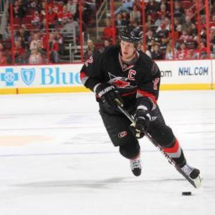 Carolina Hurricanes captain Eric Staal