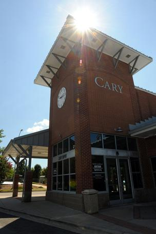 Cary train station.