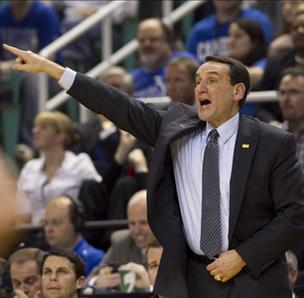 Duke head basketball coach Mike Krzyzweski