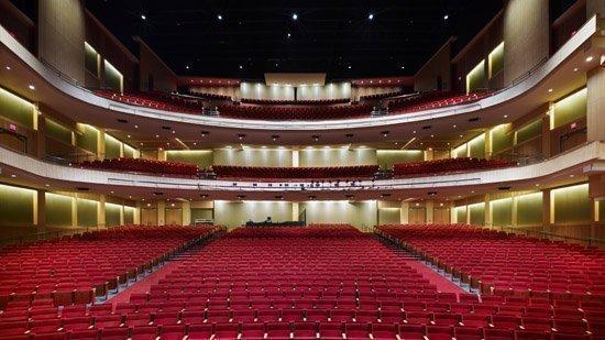 The auditorium of the Durham Performing Arts Center.
