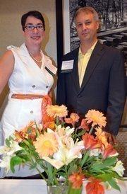 Sara Brown with SA Brown Marketing Strategy and Todd Washburn of Todd Washburn Solutions at the WIB event.
