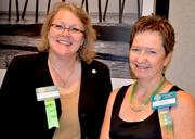 Mary Ann Leichliter-Rice and Pam Clark with the National Association of Women Business Owners