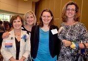 2012 Winner Christine Peters, left, along with Meghan Peterson, Tasha Dyson and past award winner Crystal Suazo.