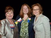 2012 WIB Lifetime Achievement winner Rusine Mitchell Sinclair, left, along with fellow award winner April Mills, and Heather Denny.