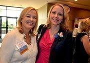 Past WIB winner Carla Starr and 2012 award winner Valoree Eikinas with Mulkey Engineers & Consultants
