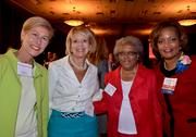 2012 WIB winner Kim Saunders, far right, along with Rep. Deborah Ross, left, Trish Healy with The Green Chair Project, center, and her mother.