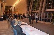 Metal detectors screened entering guests.