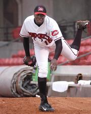 Dontrelle Willis played for the Mudcats at one point, but also was the 2003 Rookie of the Year with the National League's Florida Marlins. He played in the All-Star game twice.