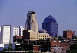 The downtown Durham skyline.