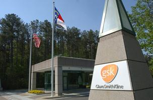 Entrance to GSK's U.S. headquarters in Research Triangle Park.