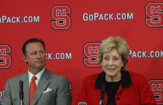 NCSU Athletics Director Debbie Yow hired Mark Gottfried as the men's basketball coach earlier this year.