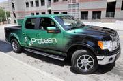 The Protean Drive F-150 electric test vehicle.