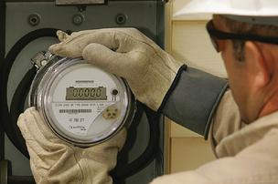 Itron makes electric meters.
