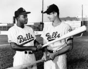 Joe Morgan (left), a former Durham Bull, was a key cog in Cincinnati's Big Red Machine and was the MVP of the 1972 All-Star Game. He played in a total of 10 All-Star games.