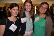Wendy Ruggiero, Emily Silva and Paige Kawula (left to right) had something to smile about. Their company, Morgan Creek Capital Management LLC, was one of the winners in the small size category.