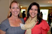 Rocky Top Hospitality's Aimee Bridges, left, along with MMI's Anjelica Cummings at the A Better World Awards inside the Northridge Country Club.