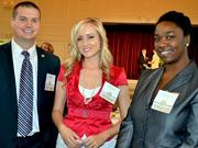 Alan Taylor, Amy Colwell and Tia McLaurin (left to right) with Blue Water Spa won an award in the small company category.