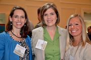 Deloitte's Holly Crumpler, Accentuate Staffing's Cindy Waite and Lori Carson pose for a quick photo at the 2012 A Better World Awards.
