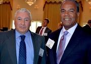 Cecil Wright, left, and Craig Chancellor with United Way of the Greater Triangle attended the A Better World Awards held at the Northridge Country Club in Raleigh.