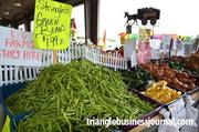 The North Carolina State Farmers Market is ripe with color, including this pile of stringless green beans.
