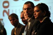 Lakshmi Challa (foreground) of Challa Law was one of the panelists at TBJ's Global Research Triangle Symposium.