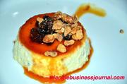 Mustard Mascarpone Flan with Roasted Walnuts and Port-Currant-Mustard Compote - Chef DeCarolis