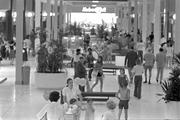 Original plans had the mall designed to be a 1.3 million square foot strip center, with the ability to accommodate 130 stores. However, with the leasing agreements of Hudson-Belk and Sears, in addition to interest from Thalhimer's, planners decided the facility would need to be two levels.