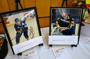 For the hockey fans – two signed 8x10s of a young Ron Francis and Mario Lemieux as members of the Pittsburgh Penguins.
