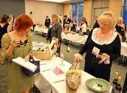 The auction included items from Holly Aiken Bags, Hayes Barton Café and Blue Water Spa.