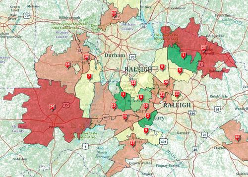 Interactive map of Triangle's wealthiest ZIP codes - Triangle ... on