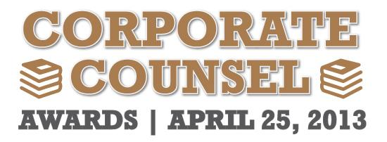 2013 Corporate Counsel of the Year Awards