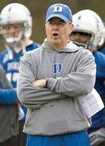 Duke football coach staying put