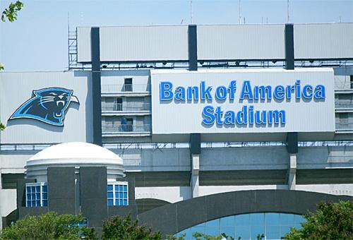 Beer sales in seating areas are allowed at the Carolina Panthers stadium in Charlotte.