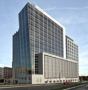 The CapTrust Tower building at North Hills on Six Forks Road in Raleigh was nominated in multiple Real Estate Awards categories for retail and office lease deals completed in 2012.