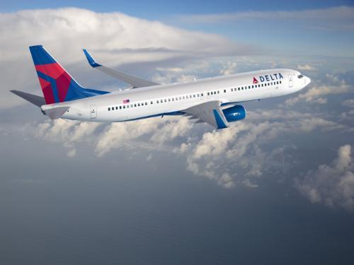 Delta Air Lines said its revenue per passenger grew 6 percent from May 2011, a percentage point short of what it expected.