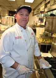 """""""Our fish comes FedEx 3 to 4 times a week, so it's always fresh,"""" says Chef Greenwell."""