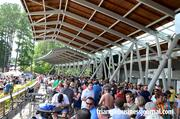 Underneath the awning was a popular place to escape the heat at the Beer, Bourbon & BBQ Festival at the Koka Booth Amphitheatre in Cary.