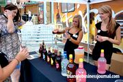 Wadmalaw, S.C.-based Firefly Distillery was pouring its popular infused sweet tea.  Flavors included a peach, raspberry and pink lemonade.