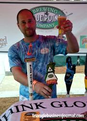 Toasted Lager, Hoptical Illusion and Blueberry Ale were some of the beer being offered up by Long Island's Blue Point Brewing Co.