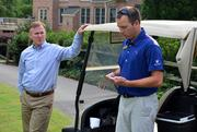 Brier Creek General Manager Don Smith, left, talks about the course with head pro Matt Rink.