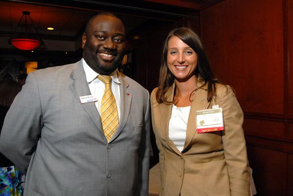 Marcus Cox and Robin Graf represented sponsor BofA Merrill Lynch at the Flemings reception.