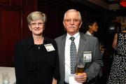 Winner Andy Oakley of Clancy & Theys and his wife, Peggy, enjoy the reception on Wednesday night.