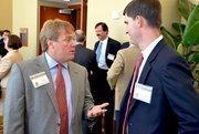 Brian Mattison of Deloitte & Touche talks with Dewayne Southern of Grant Thornton.