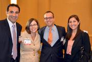 From left, Ali Yarbou and Kelly Collins of BofA Merrill Lynch, Michael O'Donnell of American City Business Journals and Erica Lewis of Bank of America.
