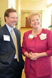 David Rhode of Vaco Raleigh and Sheila Ahler of Cherry Bekaert & Holland LLP, a sponsor.