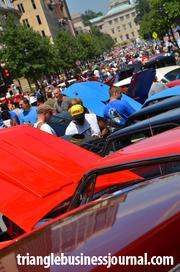 Fayetteville Street was filled with car fanatics.