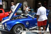 For such a small car, this vintage 1965 Ford Shelby Cobra packs 450 HP under its hood.