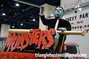 Even a replica of Eddie Munster sits atop the hand-built Munster's Koach.